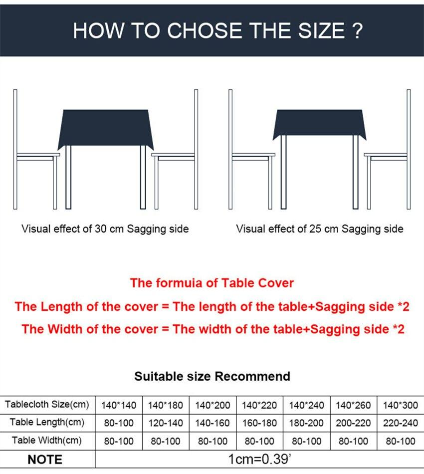 How to select tablecloth size